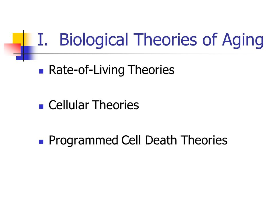 I. Biological Theories of Aging