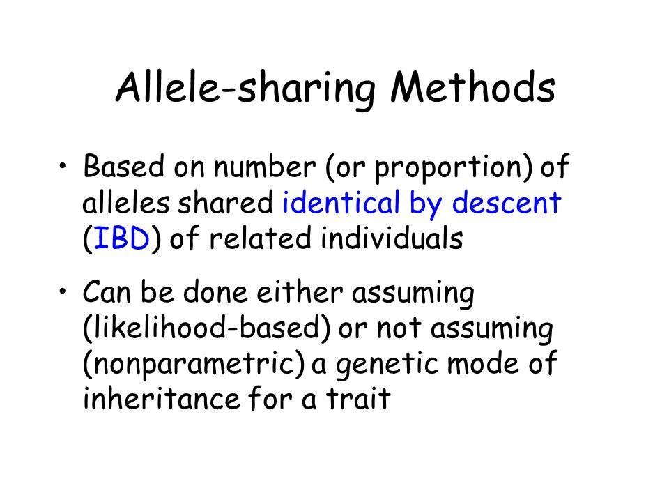 Allele-sharing Methods