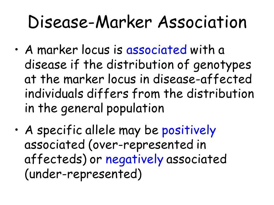 Disease-Marker Association