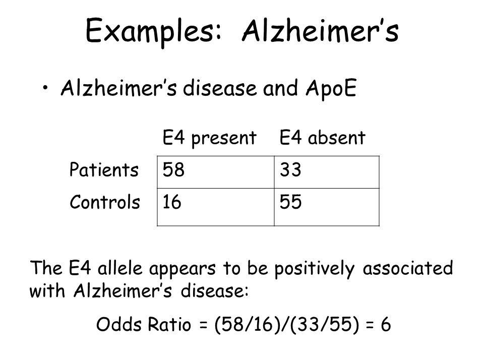 Examples: Alzheimer's