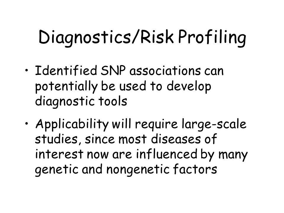 Diagnostics/Risk Profiling