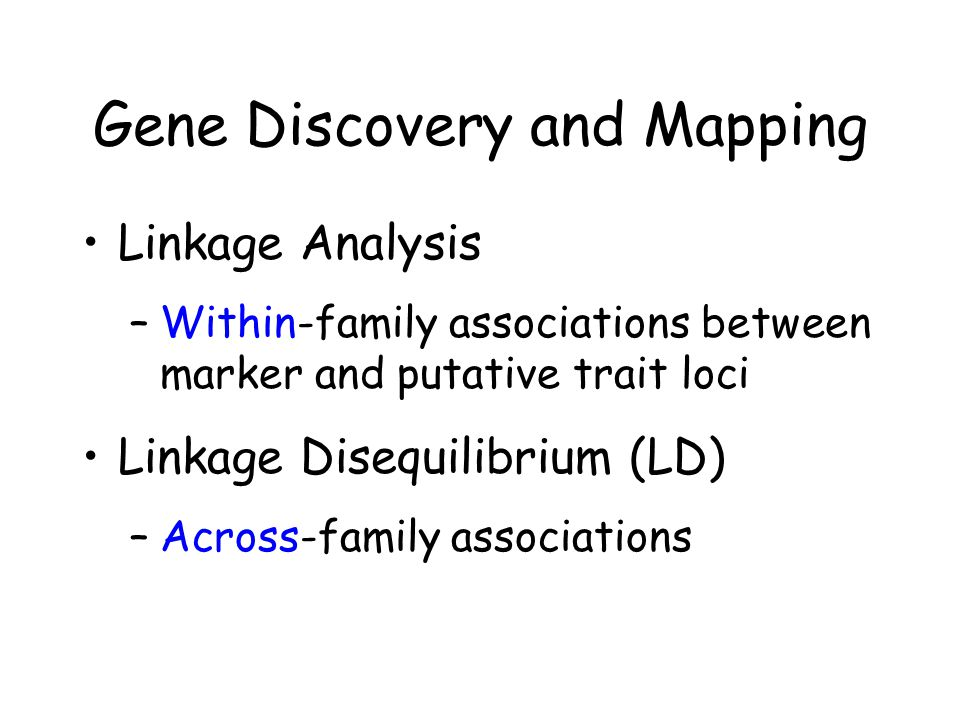 Gene Discovery and Mapping