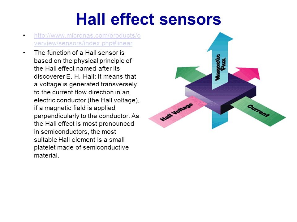 Hall effect sensors http://www.micronas.com/products/overview/sensors/index.php#linear.