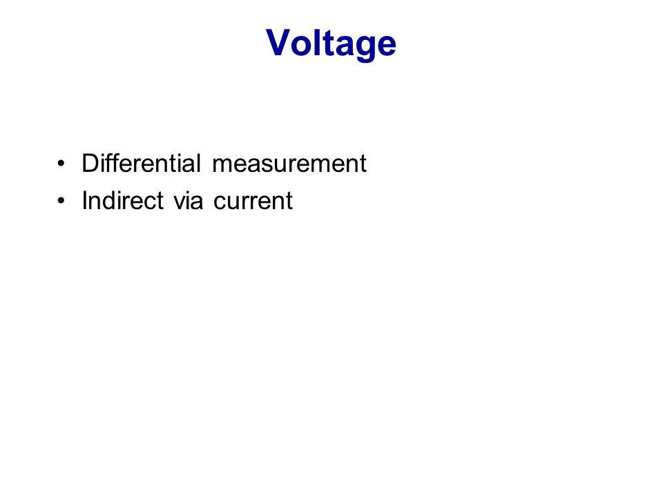 Voltage Differential measurement Indirect via current