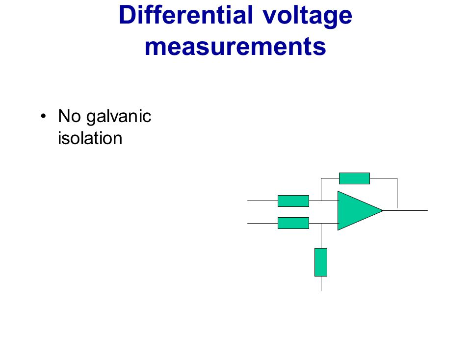 Differential voltage measurements