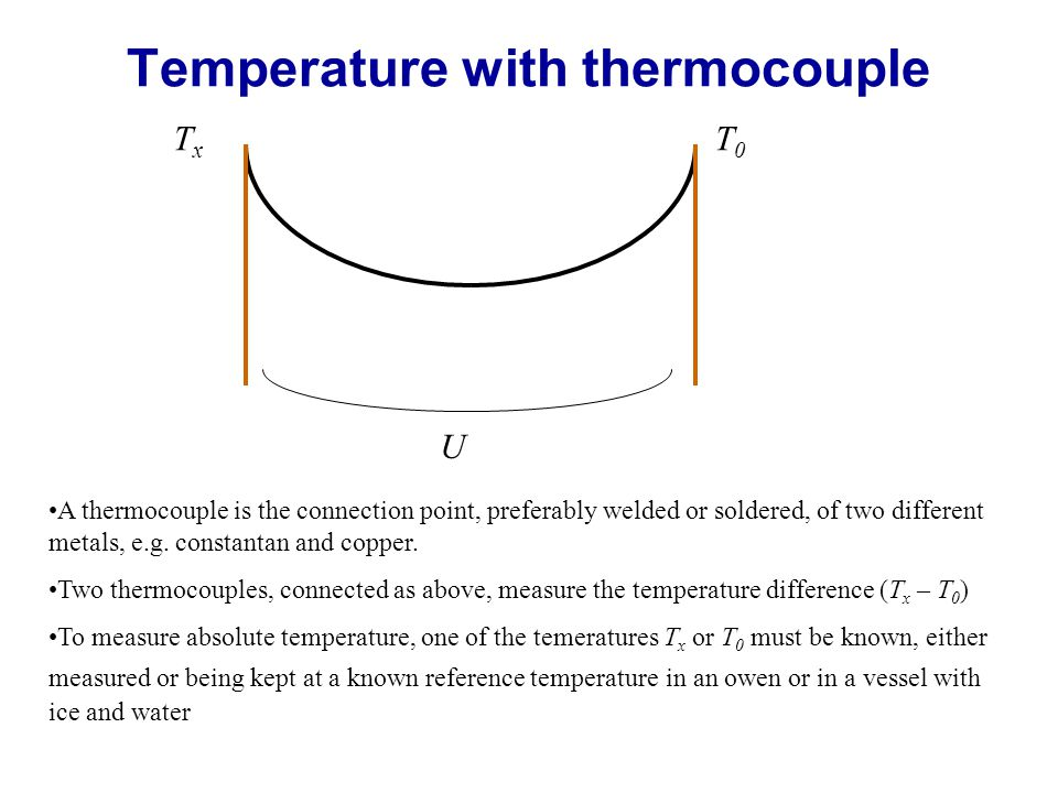 Temperature with thermocouple