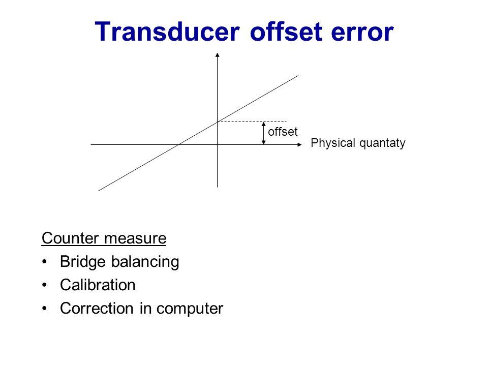 Transducer offset error