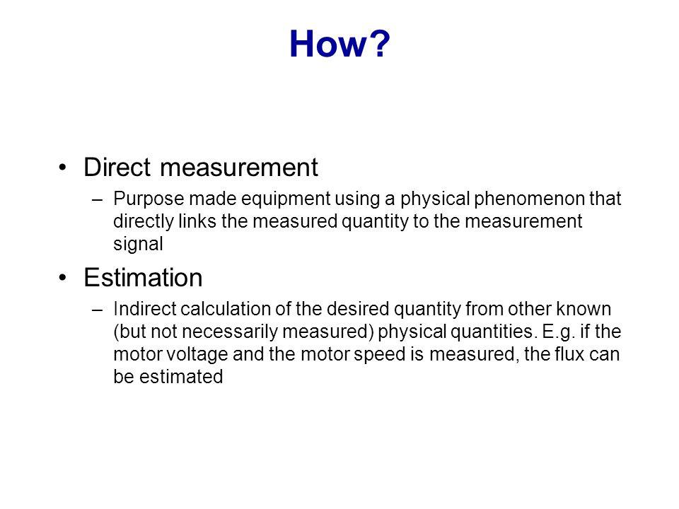 How Direct measurement Estimation