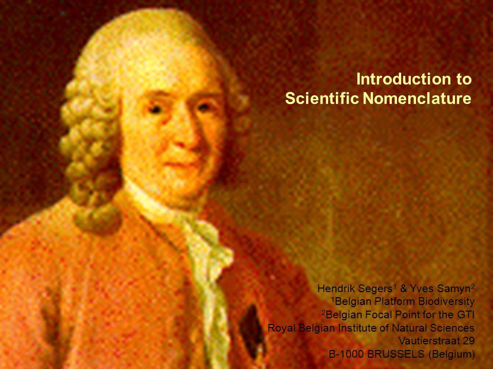 Introduction to Scientific Nomenclature