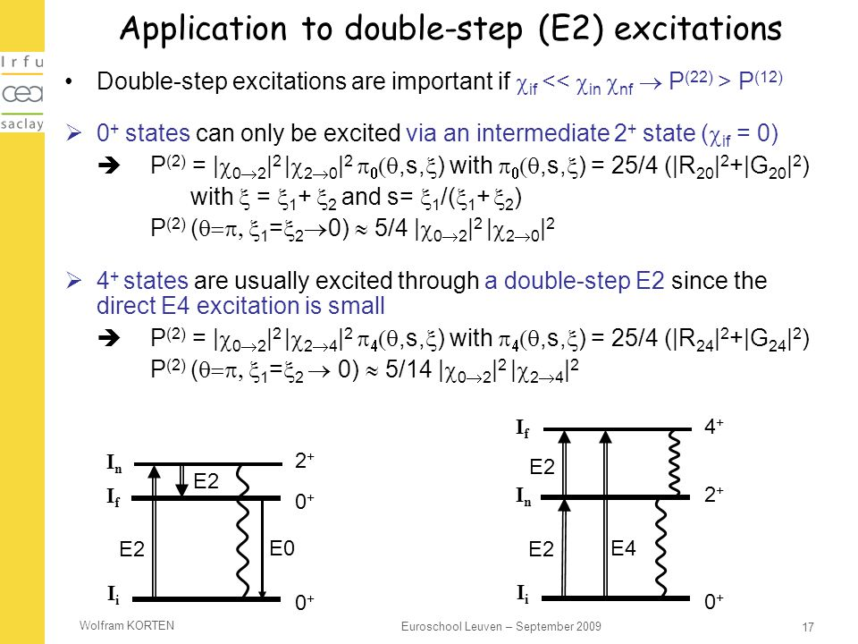 Application to double-step (E2) excitations