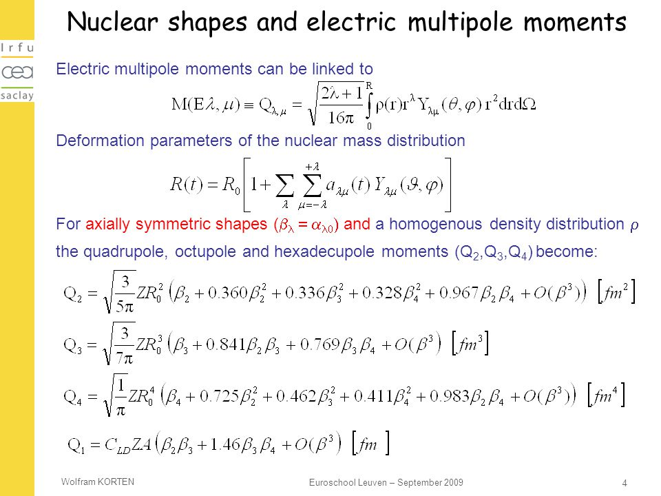 Nuclear shapes and electric multipole moments