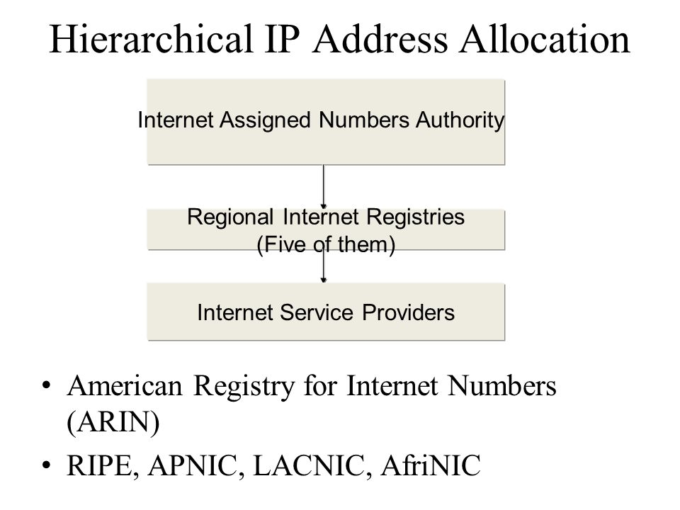 Hierarchical IP Address Allocation