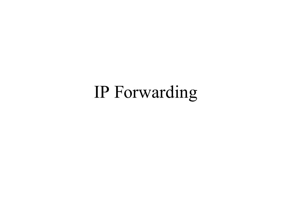 IP Forwarding