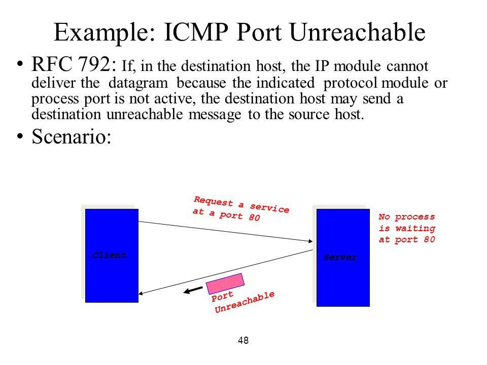 Example: ICMP Port Unreachable