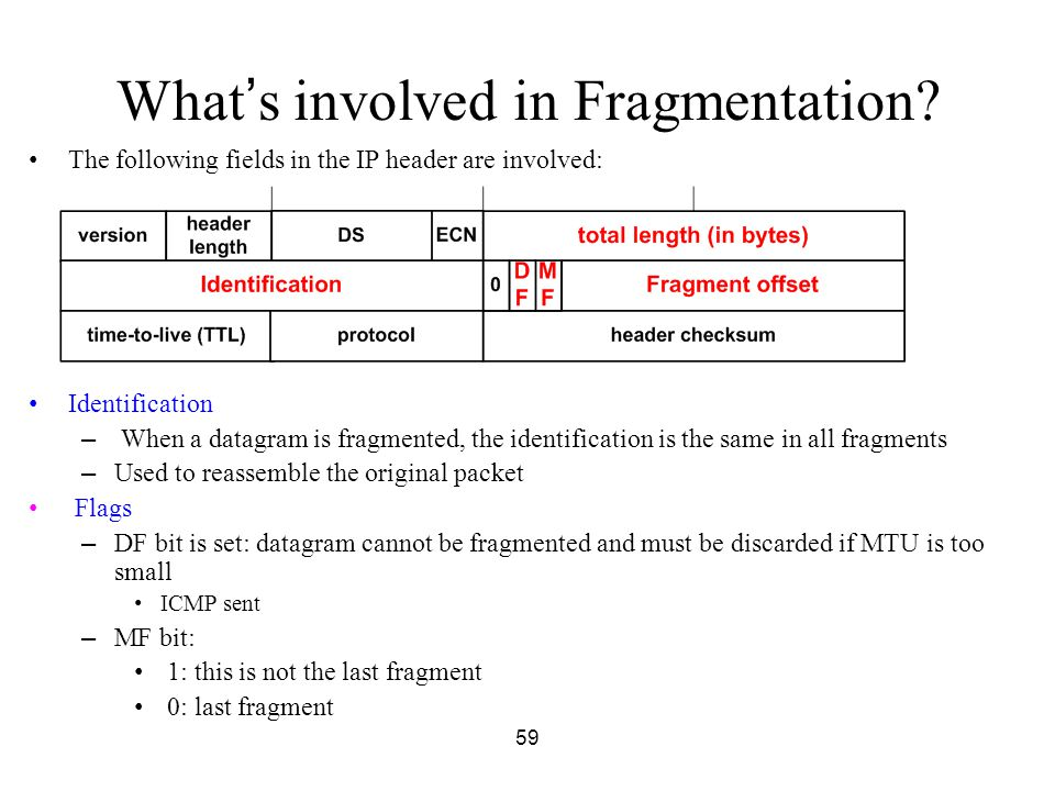 What's involved in Fragmentation