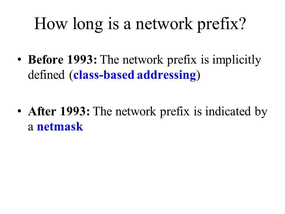 How long is a network prefix