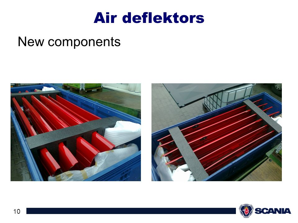 Air deflektors New components