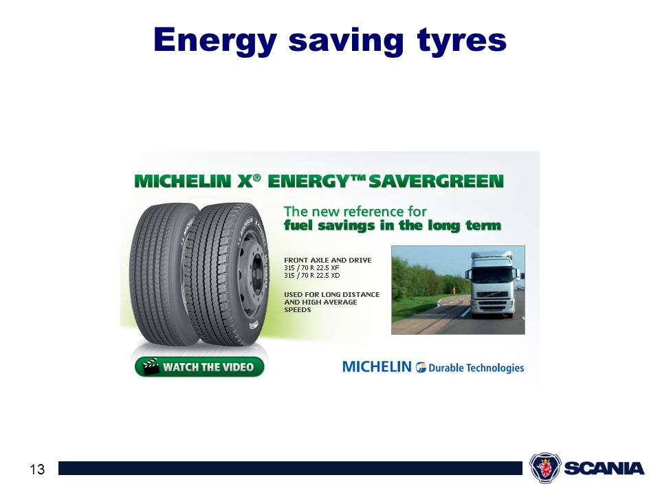 Energy saving tyres