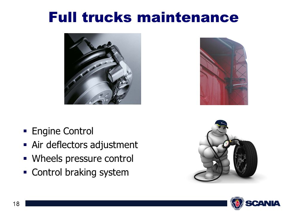 Full trucks maintenance