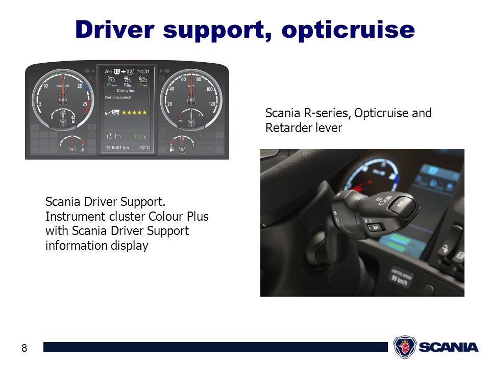 Driver support, opticruise