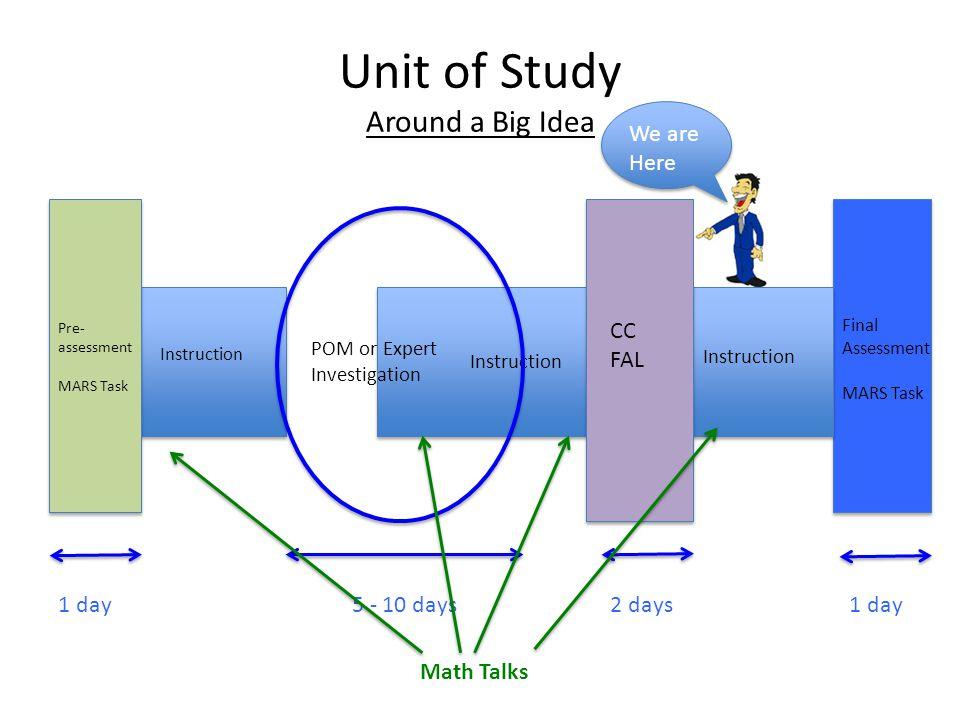 Unit of Study Around a Big Idea