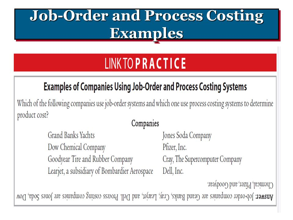 Job-Order and Process Costing Examples