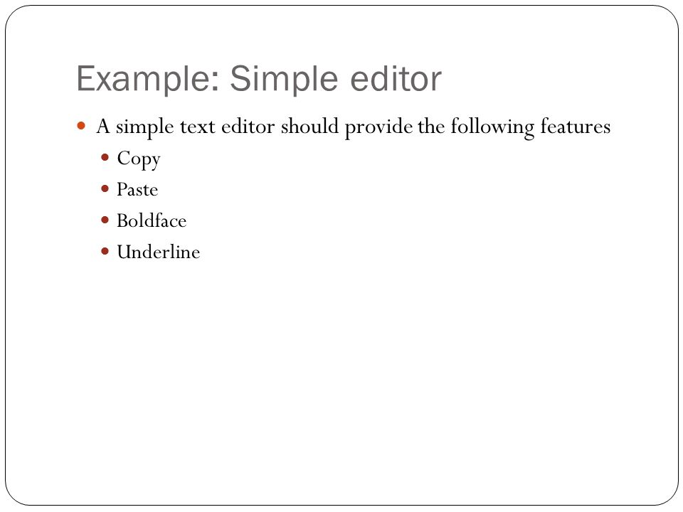 Example: Simple editor