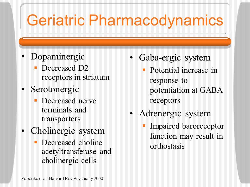 Geriatric Pharmacodynamics