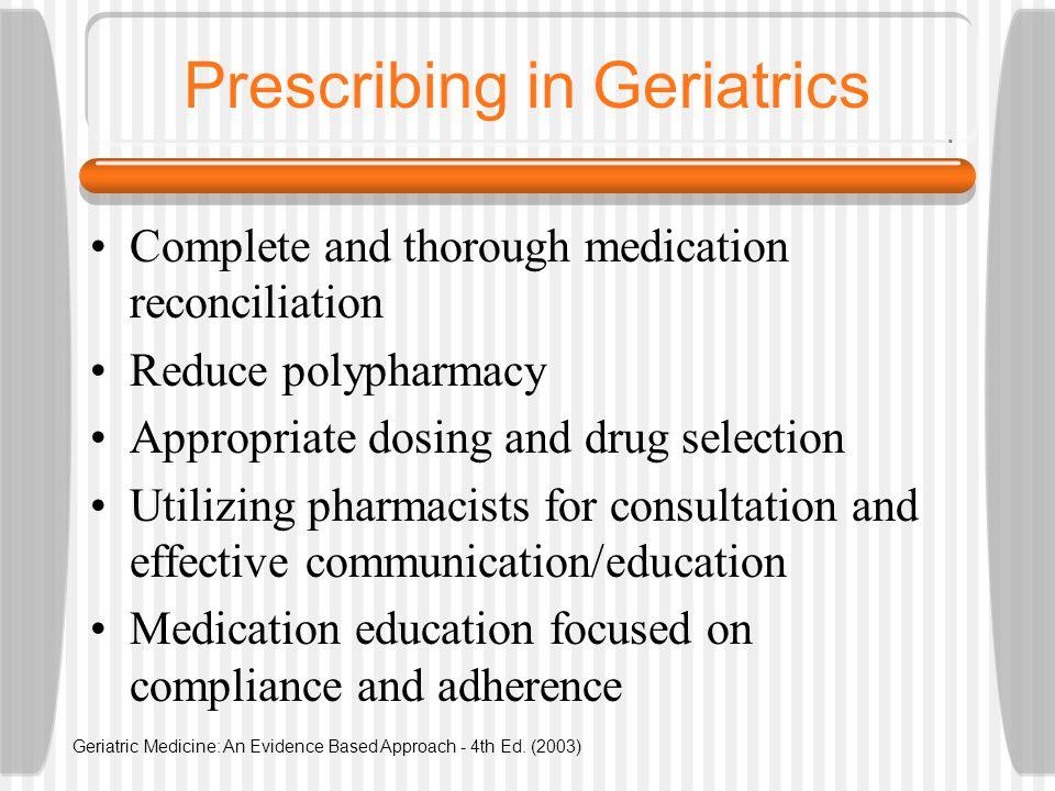 Prescribing in Geriatrics