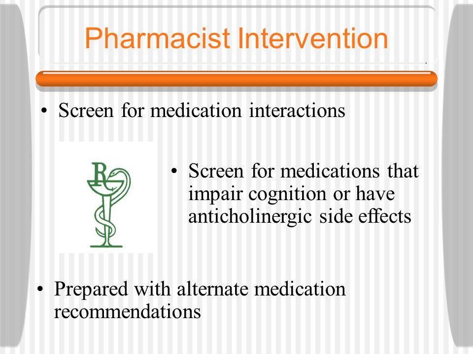 Pharmacist Intervention