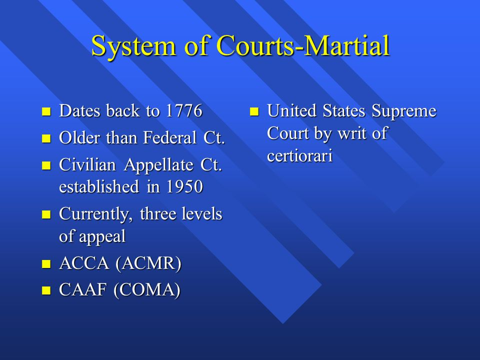 System of Courts-Martial