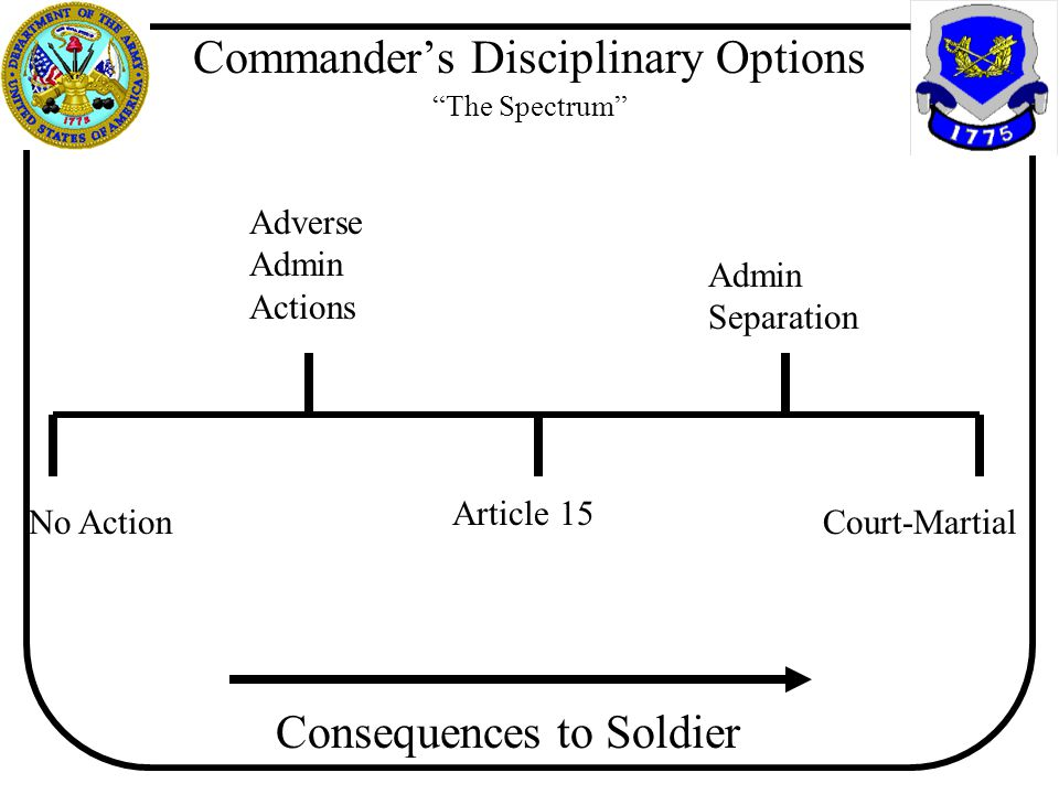 Commander's Disciplinary Options The Spectrum
