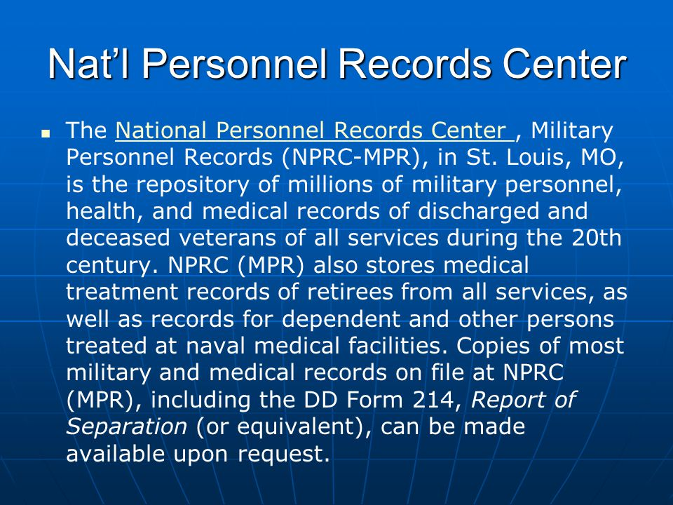 Nat'l Personnel Records Center