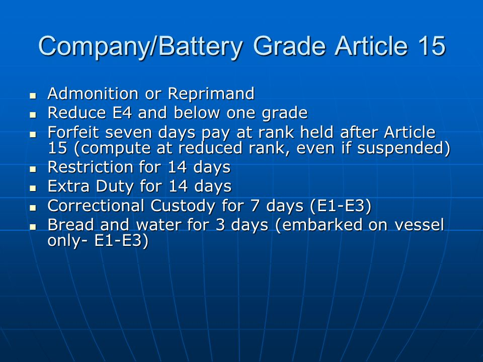 Company/Battery Grade Article 15