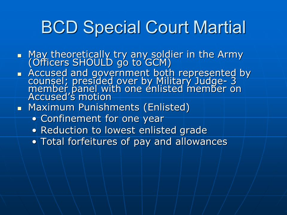 BCD Special Court Martial