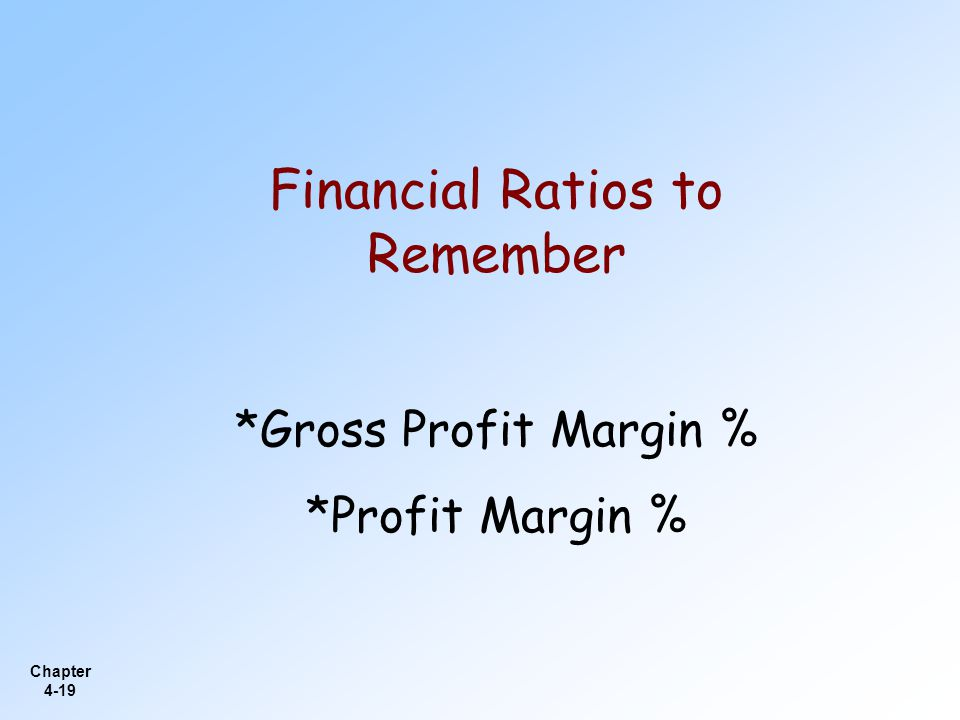Financial Ratios to Remember
