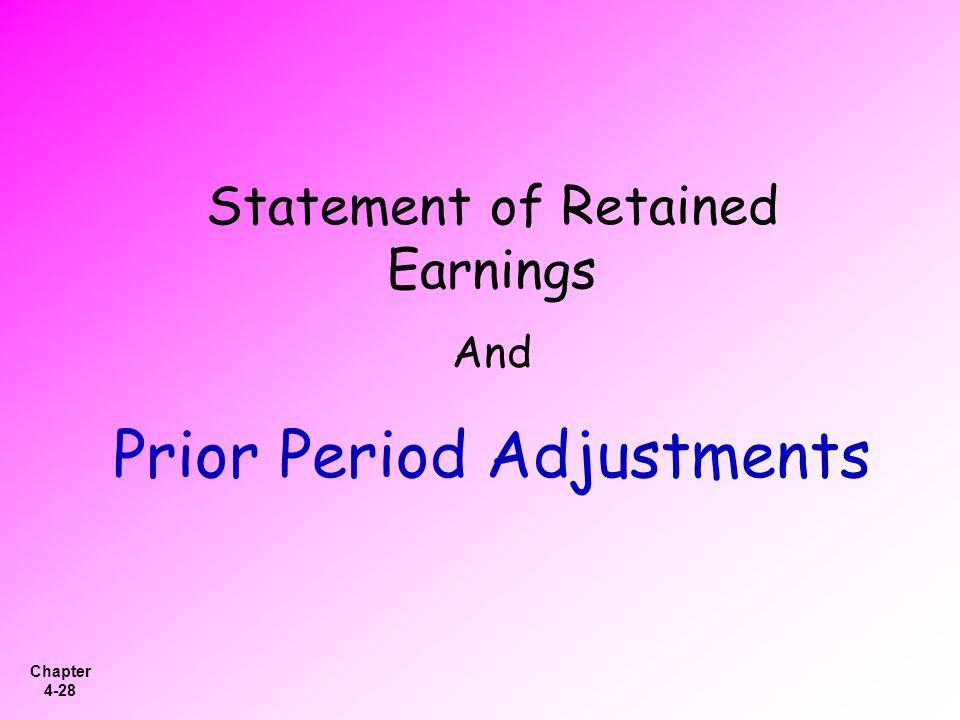 Prior Period Adjustments