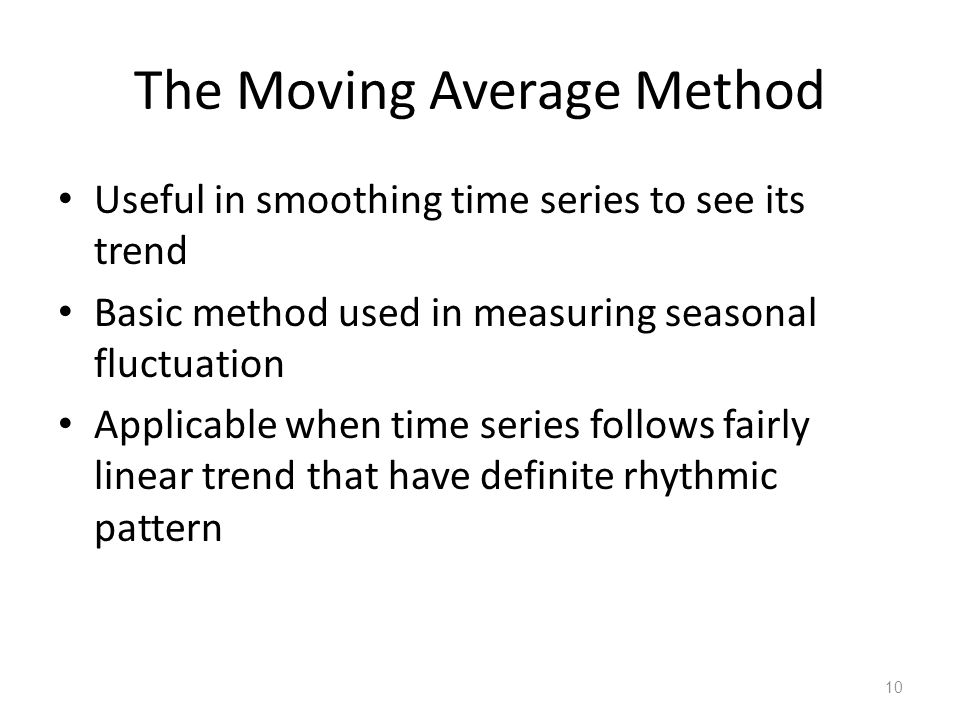 The Moving Average Method