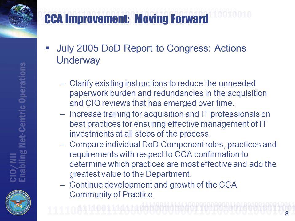 CCA Improvement: Moving Forward
