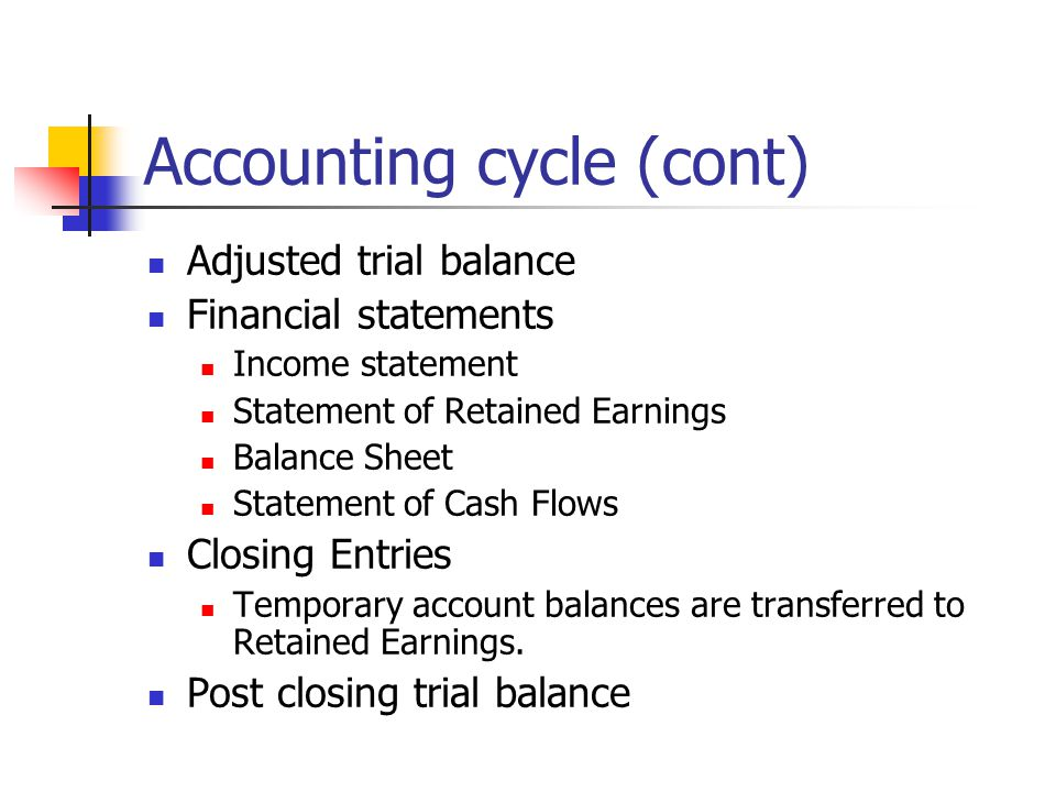 Accounting cycle (cont)