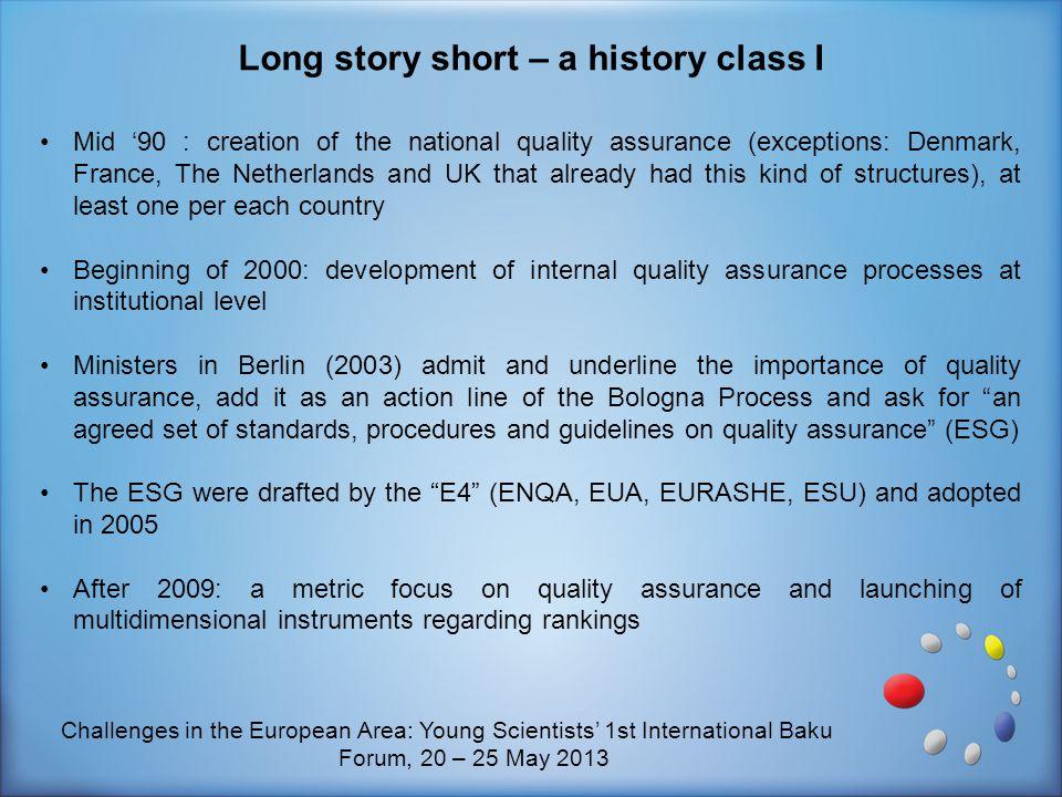 Long story short – a history class I