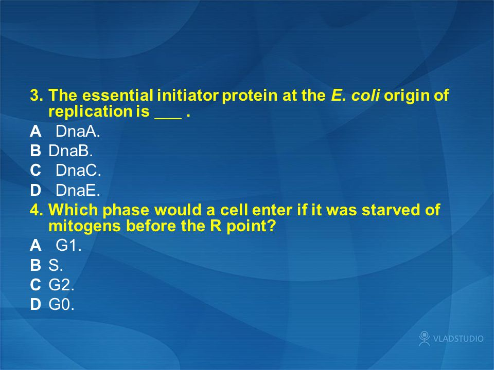 3. The essential initiator protein at the E