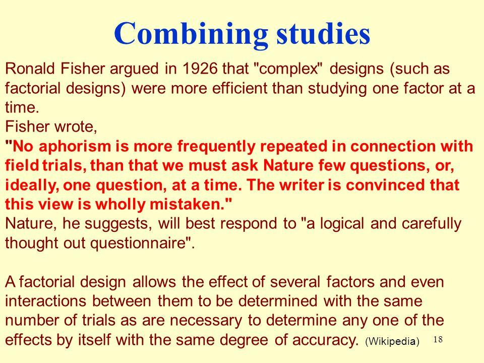 Combining studies
