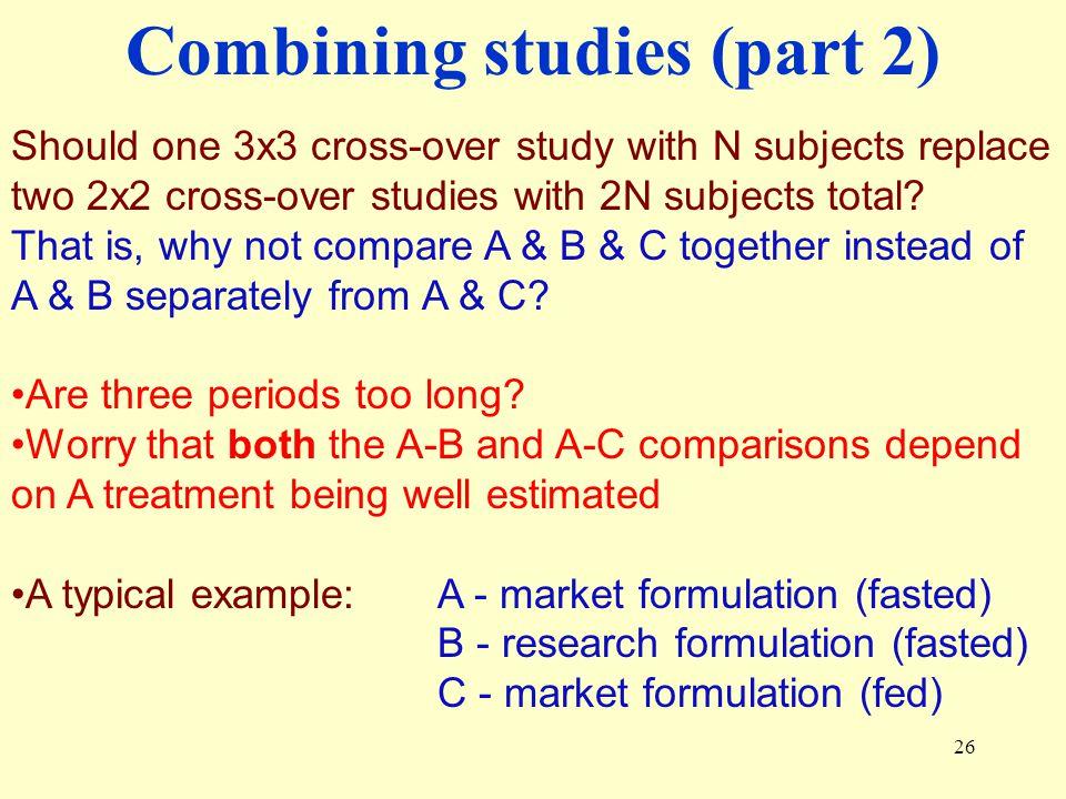 Combining studies (part 2)
