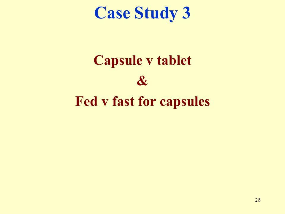 Case Study 3 Capsule v tablet & Fed v fast for capsules