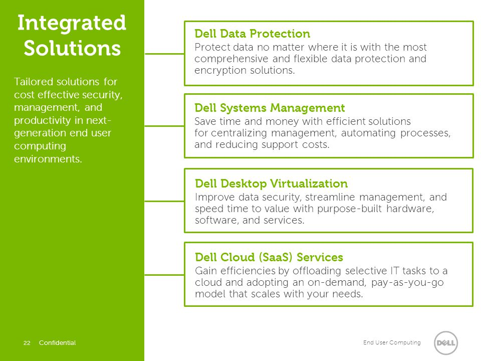 Integrated Solutions Dell Data Protection Dell Systems Management