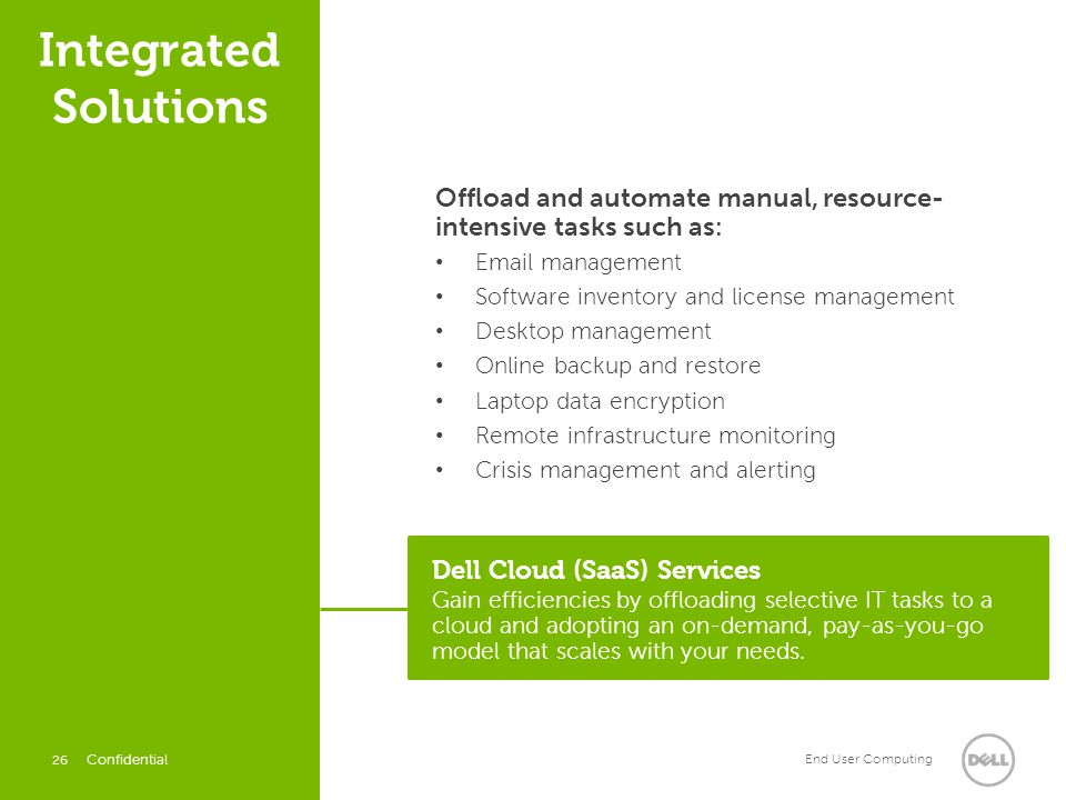 Integrated Solutions Offload and automate manual, resource- intensive tasks such as: Email management.