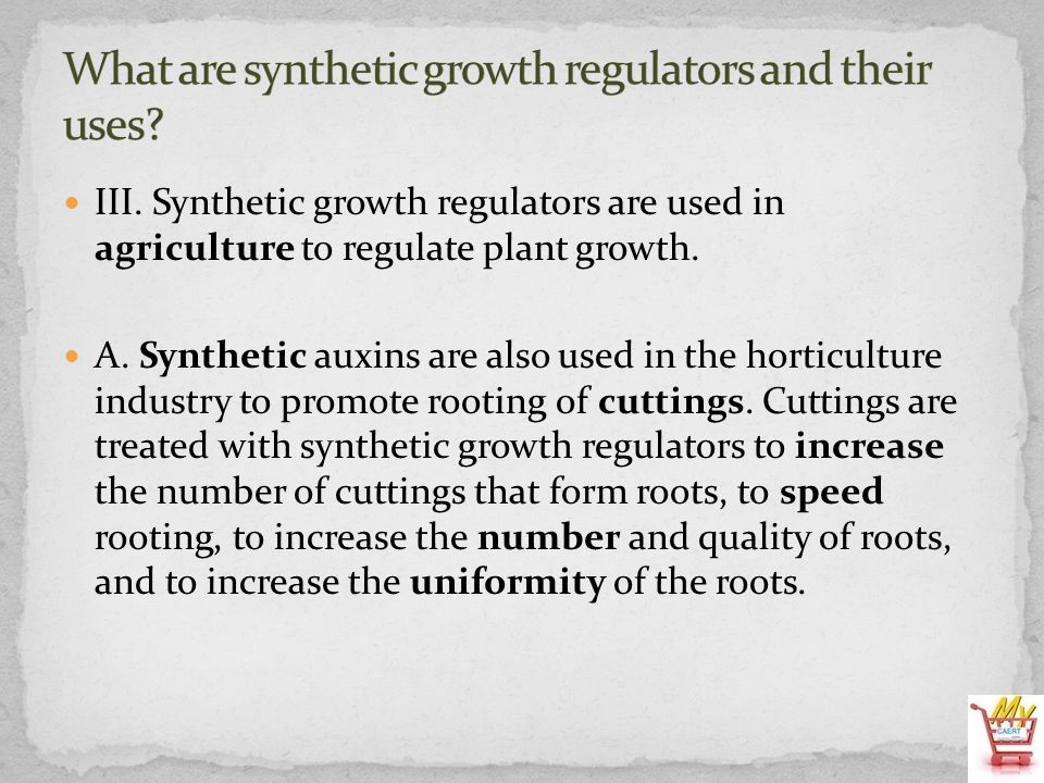 What are synthetic growth regulators and their uses