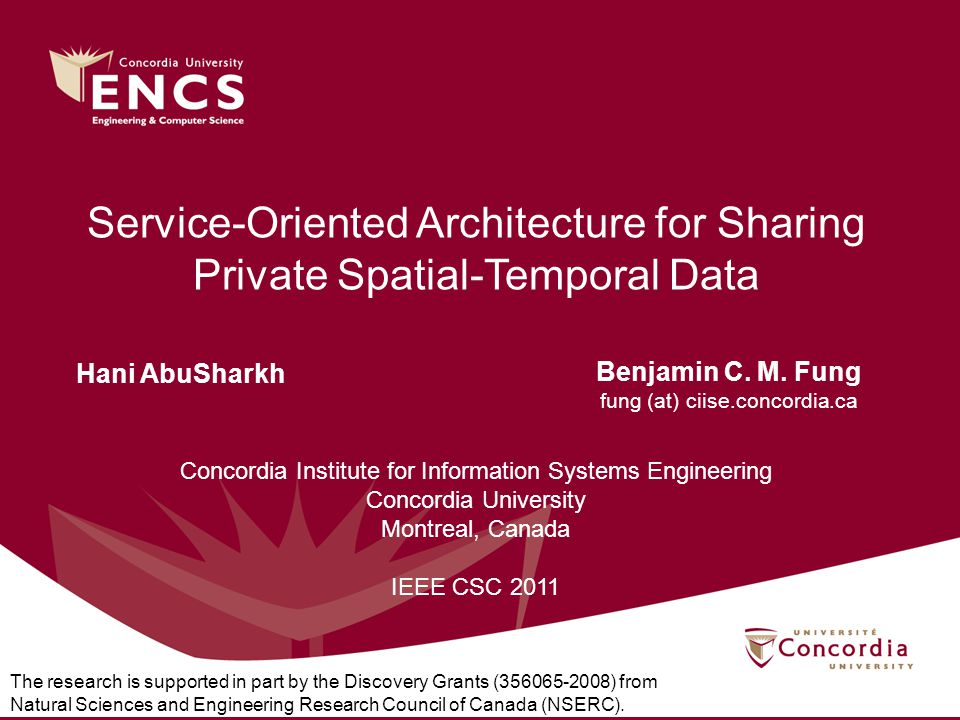 Service-Oriented Architecture for Sharing Private Spatial-Temporal Data