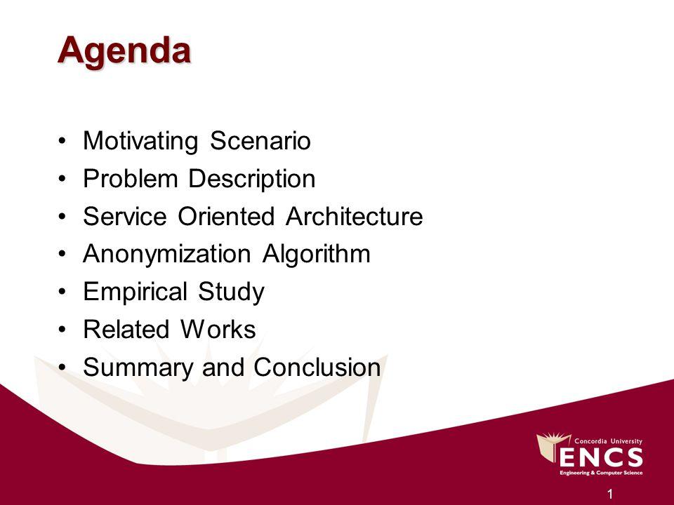 Agenda Motivating Scenario Problem Description